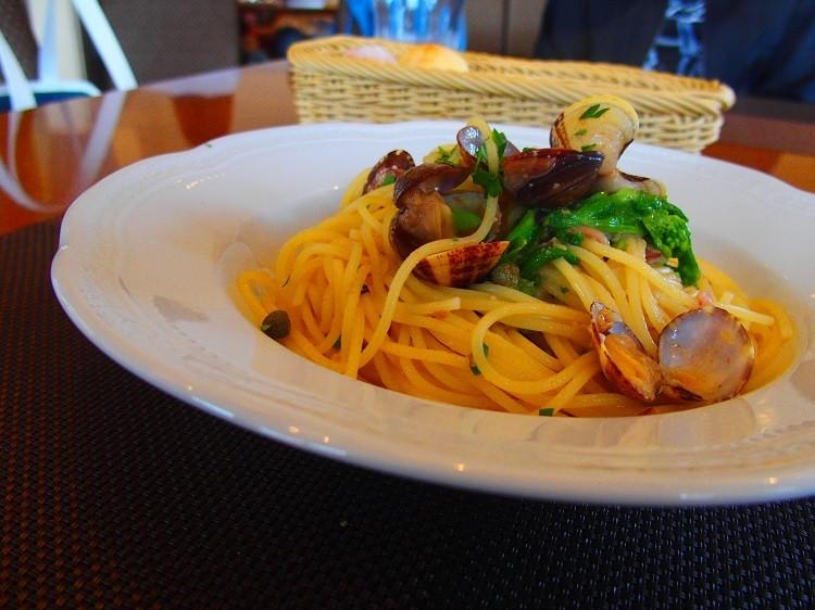 ホタルイカとアサリのスパゲッティ@ピーニャ アルテッツァ< Pigna Altezza >
