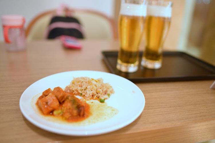 夕食1@JALサクララウンジ
