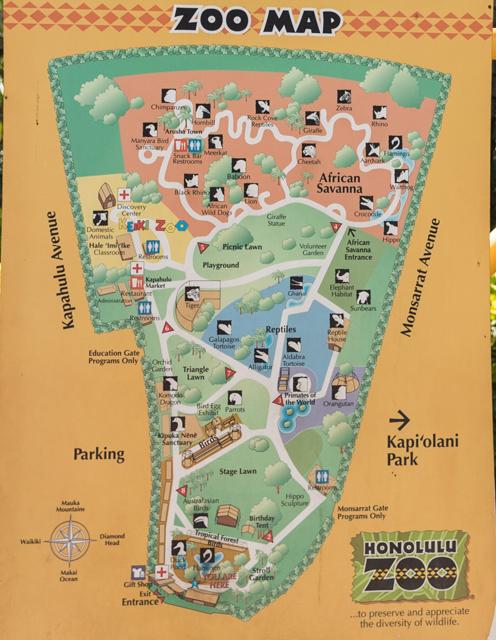 拡大ZOO MAP@ホノルル動物園