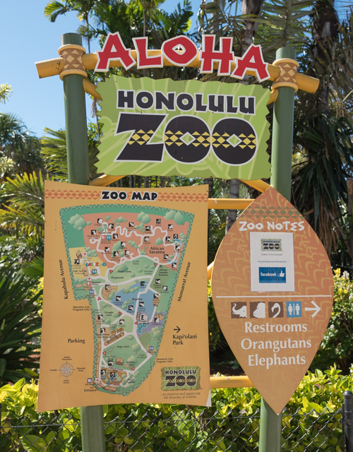 ZOO MAP@ホノルル動物園