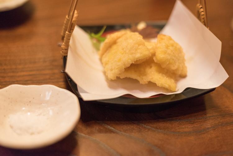 とうもろこしの天ぷら@おもてなし料理錦和