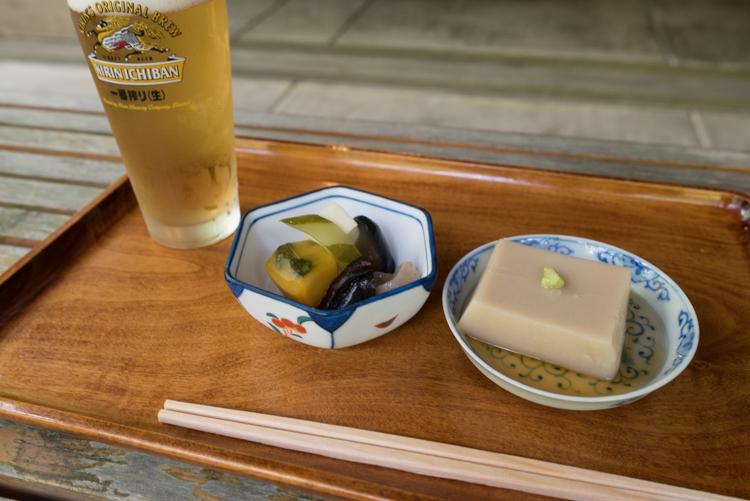 小鉢,胡麻豆腐@手打そば 時屋