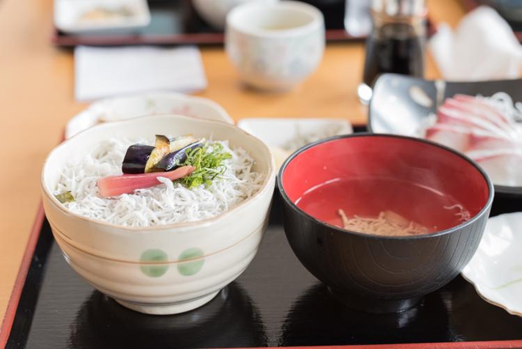 本日のお刺身セット@安芸しらす食堂