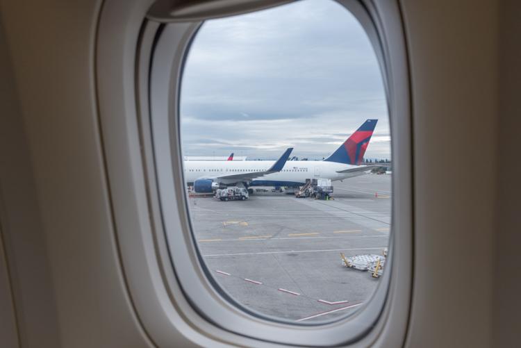 着陸@シアトル・タコマ・国際空港