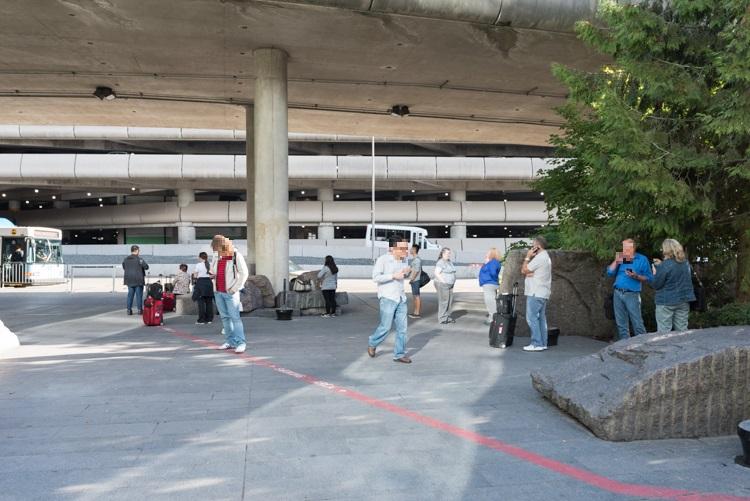 喫煙所-1@シアトル・タコマ国際空港