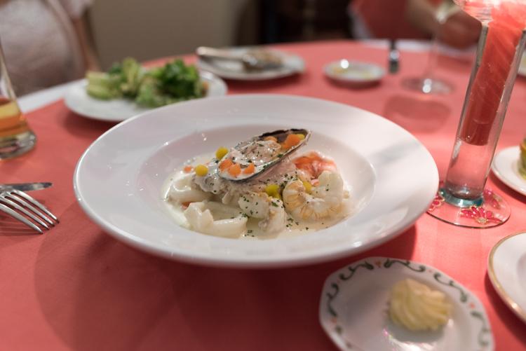 魚介のクリーム煮@Franco Roma