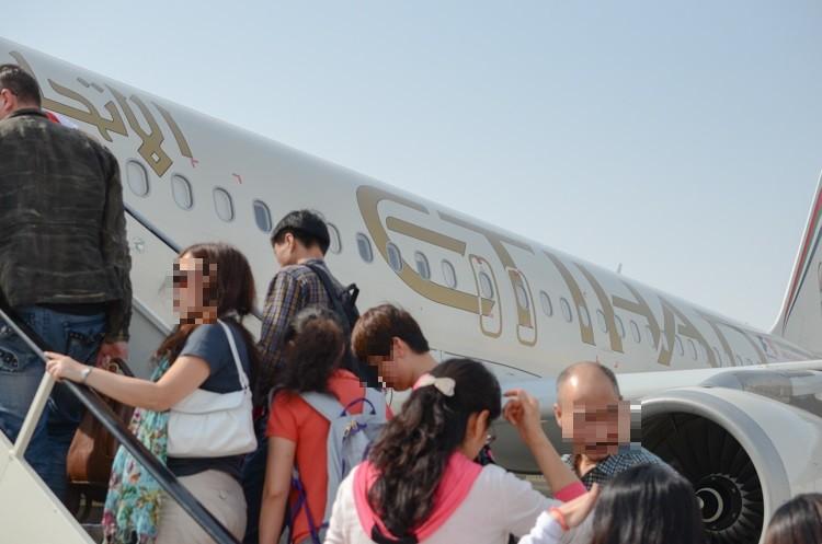 EY641@アブダビ国際空港