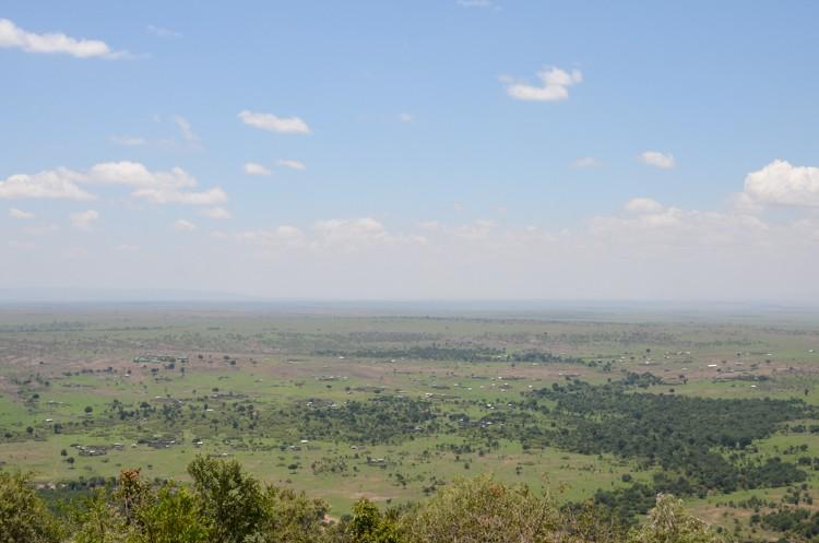 Mpata Safari Clubからの眺望