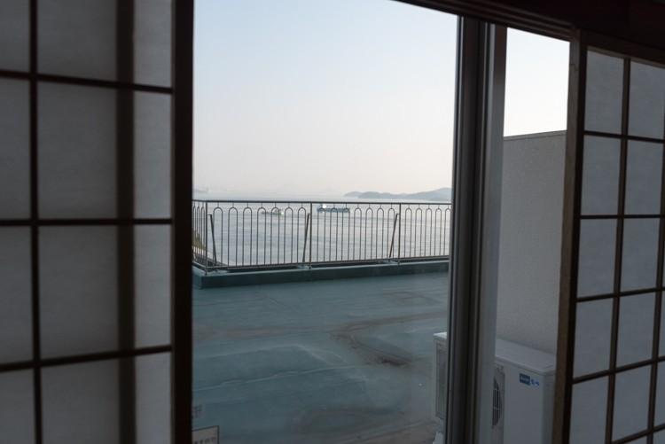 お部屋からの眺望@鷲羽グランドホテル備前屋甲子