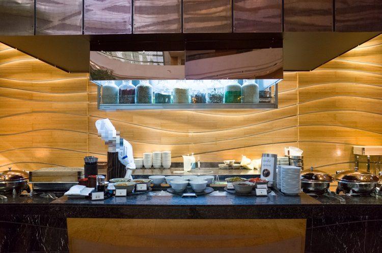 麺コーナー@RISEの朝食ビュッフェ