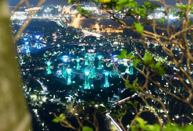 インフィニティプールからのマリーナベイの夜景-3