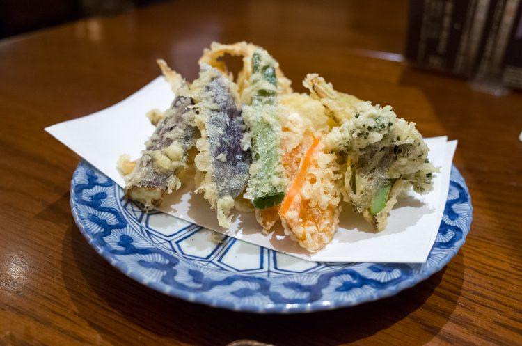 無農薬野菜の天ぷら盛合せ@蕎麦流石