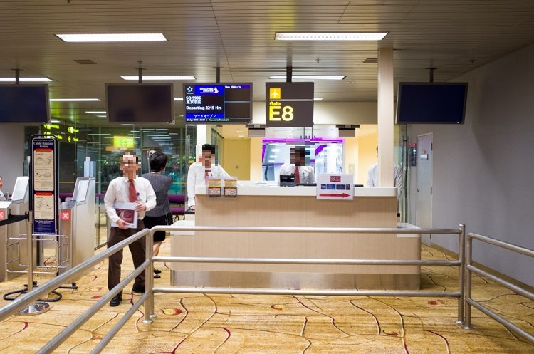 E8ゲート@チャンギ国際空港