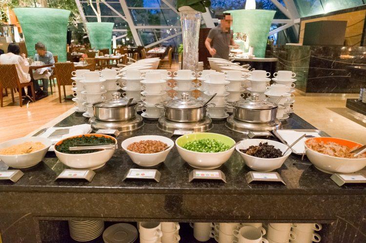 スープコーナー@RISEの朝食ビュッフェ