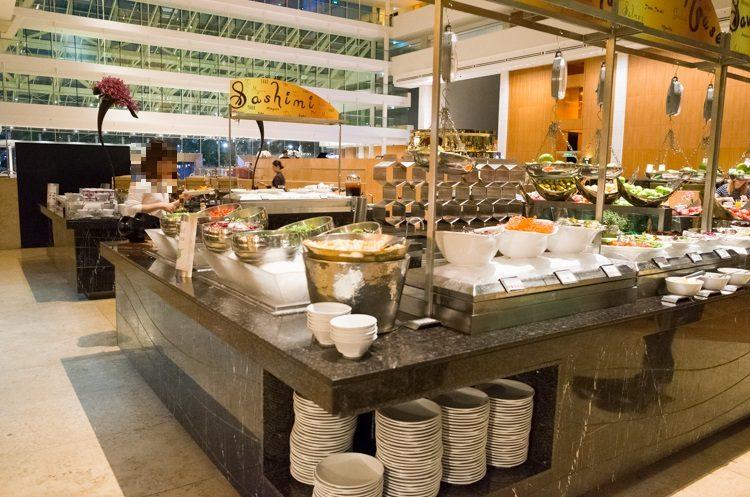 サラダコーナー@RISEの朝食ビュッフェ