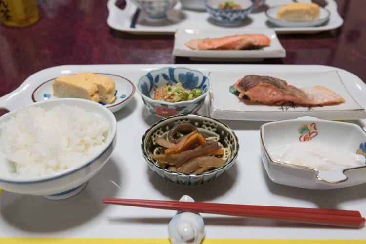 朝食@民宿おふく-1