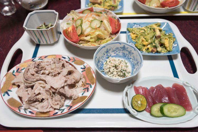 夕食@民宿おふく-1
