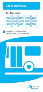 ブルーマウンテンズバス時刻表