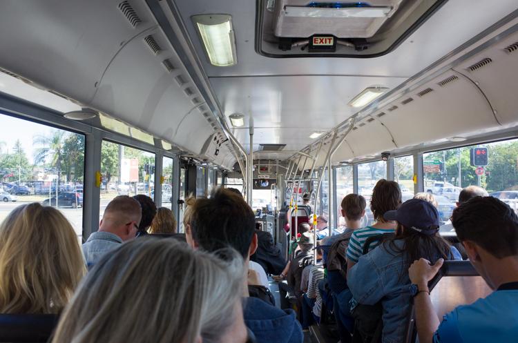 車内@Train Replacement Bus-2