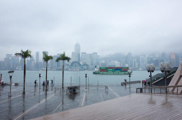 映月楼から眺める香港島
