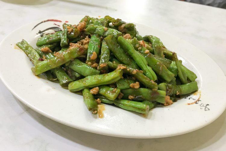 四季豆の炒め物@香辣蟹