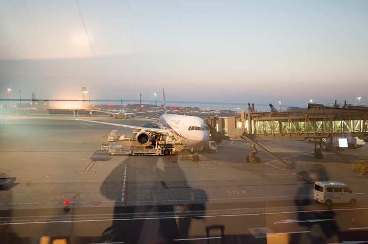 NH822@羽田空港