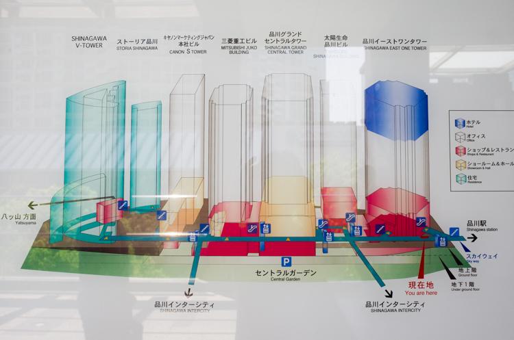 案内図@ストリングスホテル東京インターコンチネンタル