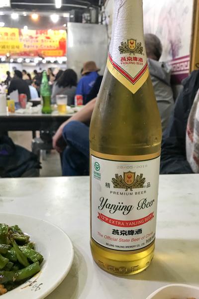 ビール@香辣蟹