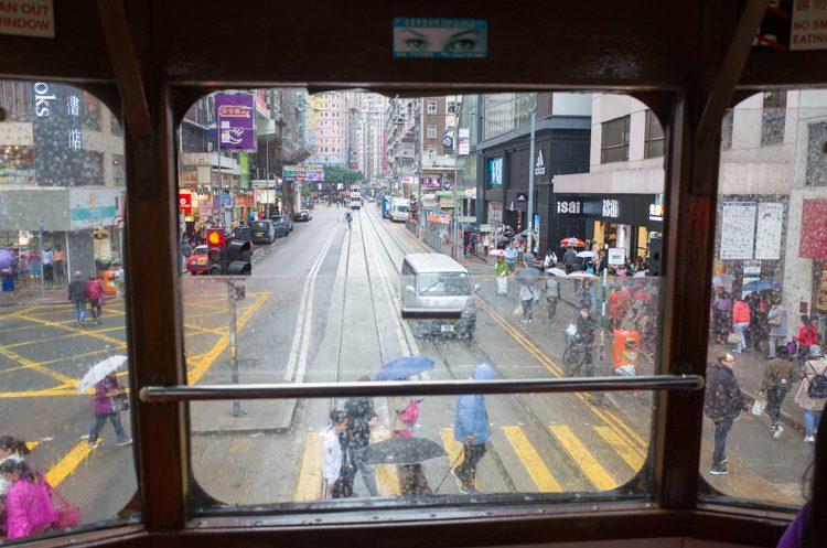 トラムからの香港の街並み