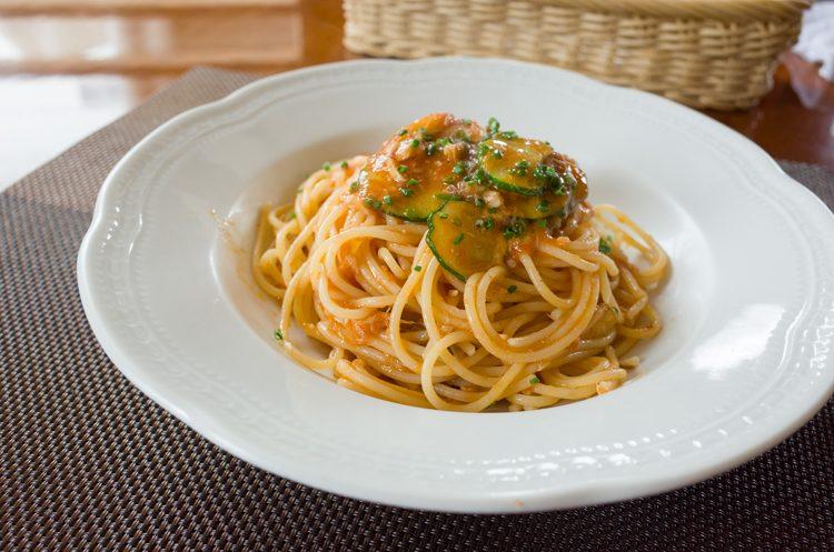 トマトスパゲッティ@Pigna Altezza