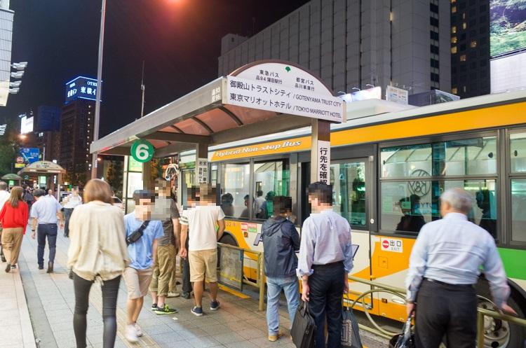 無料送迎バス乗り場@東京マリオットホテル