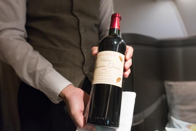 赤ワイン@CX549ファーストクラス