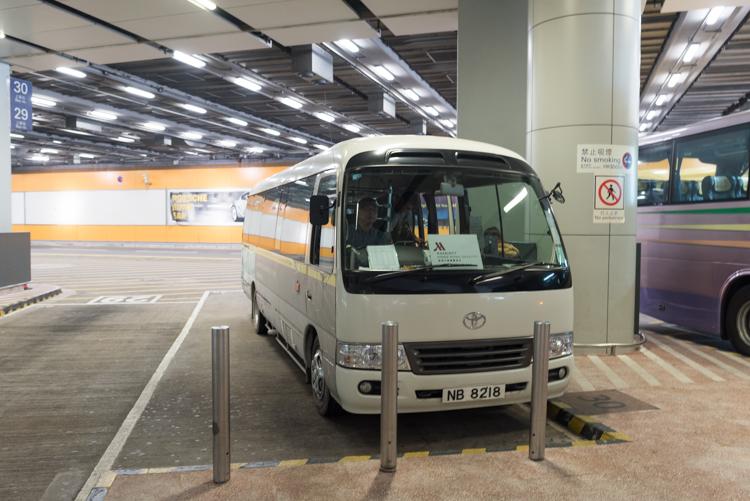 シャトルバス@香港スカイシティマリオット-1