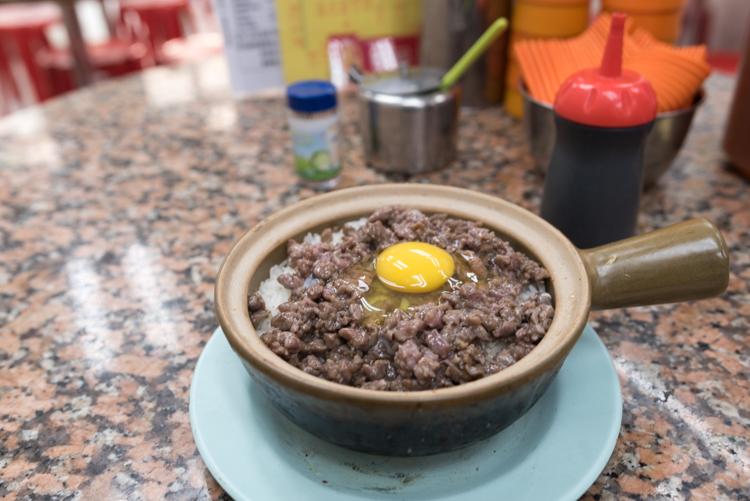 窩蛋免治牛肉煲仔飯@永合成馳名煲仔飯-1