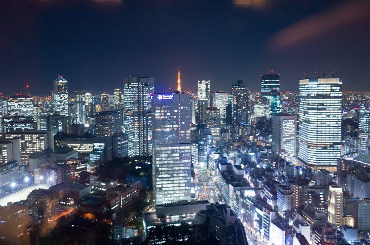 カクテルタイムの夜景@ザ・プリンスギャラリー東京紀尾井町