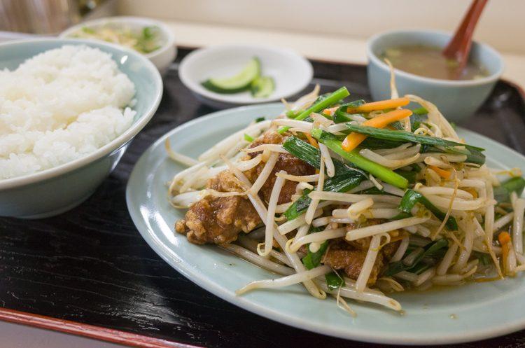 レバニラ炒め定食@丸福